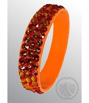 3-Row Bracelet Fire Opal/Orange