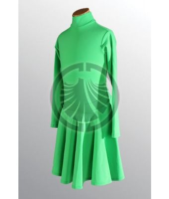 Green Dress with Turtleneck 32